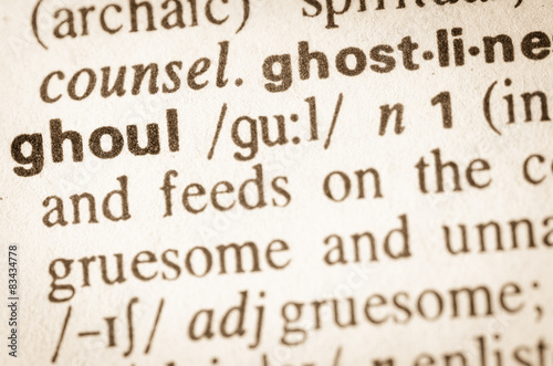 Dictionary definition of word ghoul Fototapet