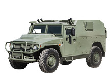 Armored Car Isolated On A White Background