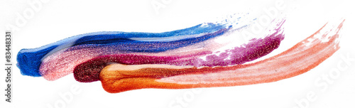 Fotografía Stripes of nail polish