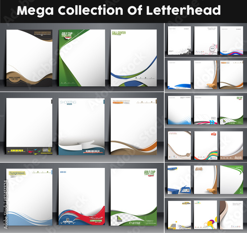 Fototapeta Mega Collection of Corporate Identity Leterhead Template.  obraz