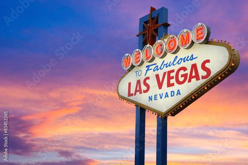 In de dag Las Vegas Welcome To Fabulous Las Vegas Nevada Sign