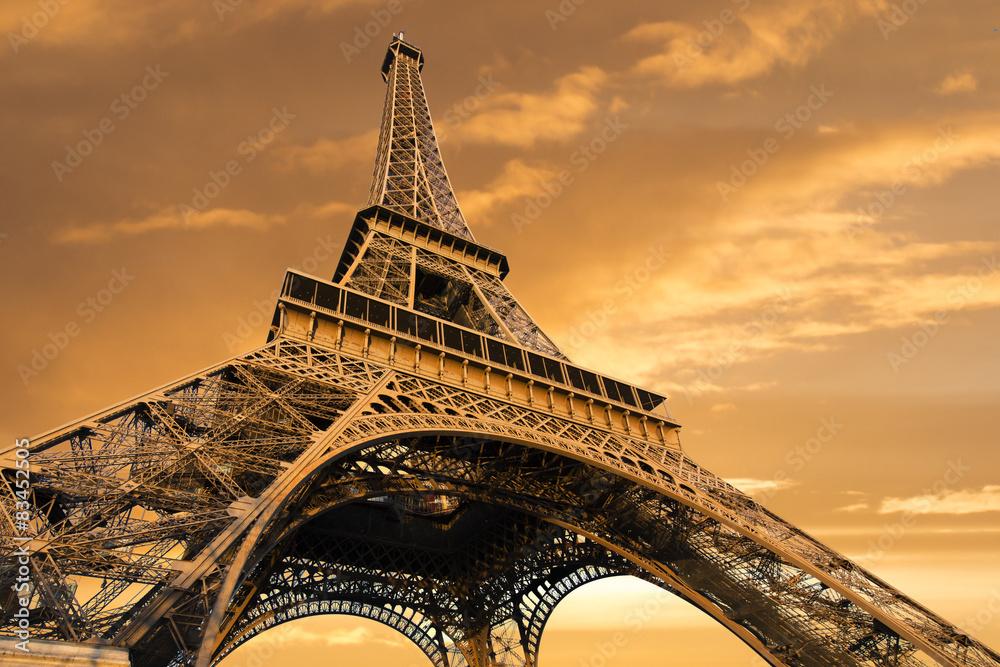 Fototapeta Eiffel Tower, Paris, France - obraz na płótnie