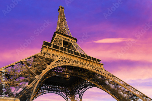 Fototapeta Eiffel Tower, Paris, France obraz na płótnie