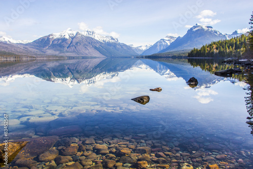 Poster Glaciers Crystal clear lake