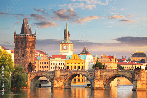 Prague - Charles bridge, Czech Republic Wallpaper Mural