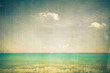 canvas print picture - Ocean with vintage texture effect