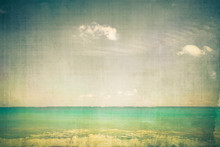 Ocean With Vintage Texture Effect