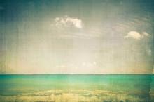 Ocean With Vintage Texture Eff...