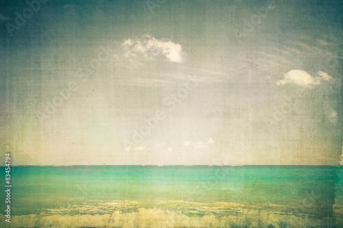 Foto op Plexiglas Retro Ocean with vintage texture effect