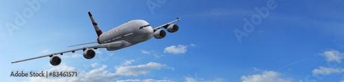 Fotografia  Modern Passenger airplane in flight