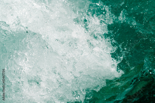 Canvas Prints Countryside whitewater waves as background
