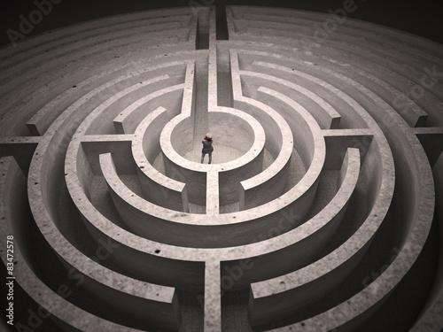 Leinwand Poster Gefangen in Labyrinth
