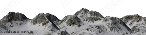 Snowy Mountains - isolated on white background  #83473716