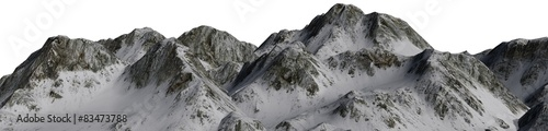 Stickers pour porte Taupe Snowy Mountains - isolated on white background