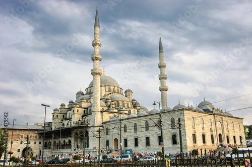 Photo  New mosque-Yeni Camii, Istanbul, Turkey.