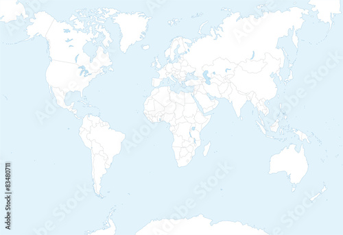 blank map of world with countries borders - Buy this stock vector ...