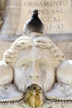Fountain On The Piazza Della Rotonda In Rome, Italy