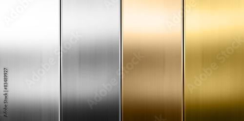 Staande foto Metal Metall Textur