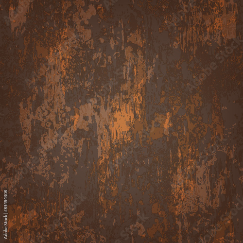 abstract seamless texture of rusted metal Fototapet