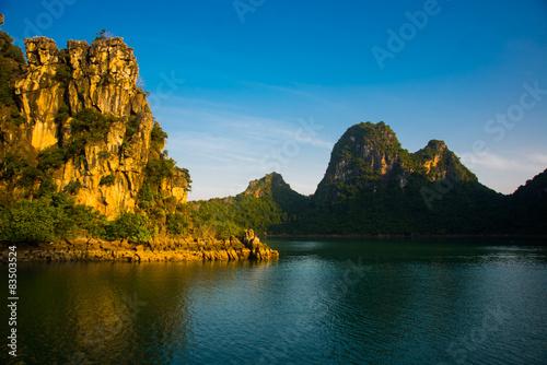 Fotobehang Zwart Asia, country of Vietnam. Mountains.