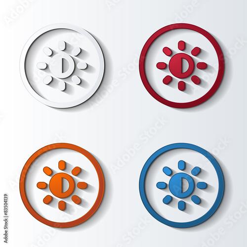 Fotografie, Obraz  icon4colors_circle_frame_176