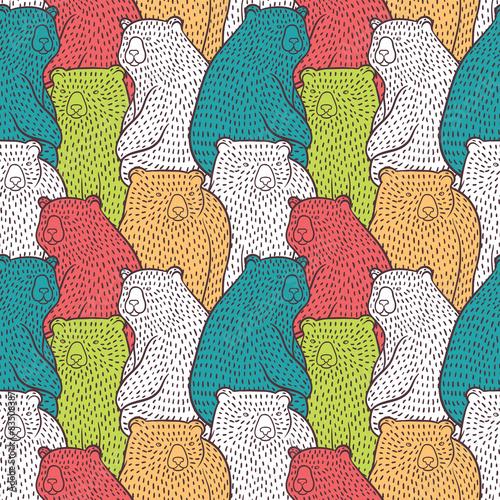 Bears seamless pattern