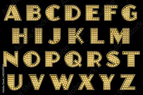 Photo  Vaudeville Marquee Alphabet Collection