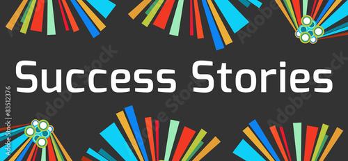 Success Stories Dark Colorful Elements