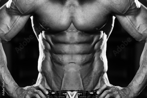 Photo  Strong Bodybuilder With Six Pack