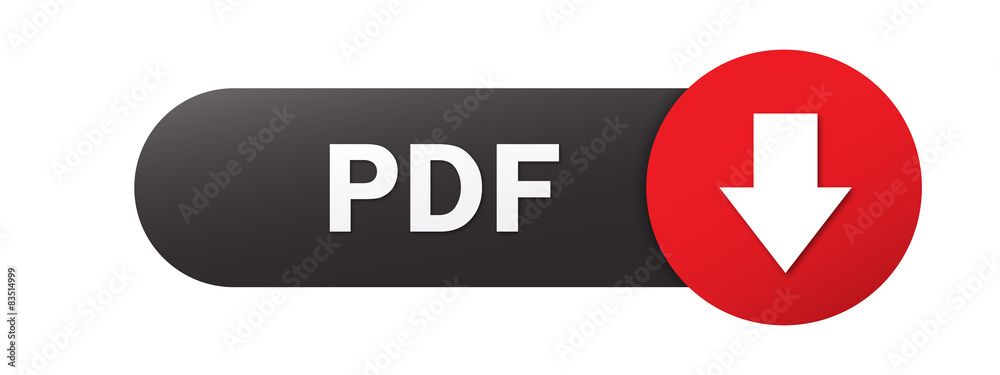 Fototapeta Black and red PDF vector web button