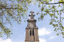 Tower Of Westerkerk In Dutch Capital Of Amsterdam