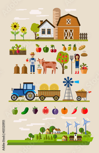 Poster de jardin Route Agriculture and Farming