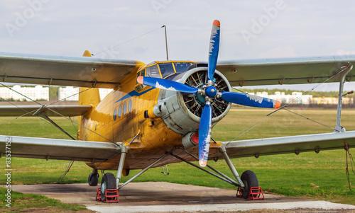 Vintage biplane - 83537152