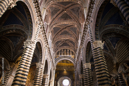 Poster Monument Siena Cathedral in Tuscany