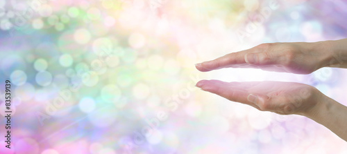 Photo  Rainbow Healers Website Banner with soft bokeh effect
