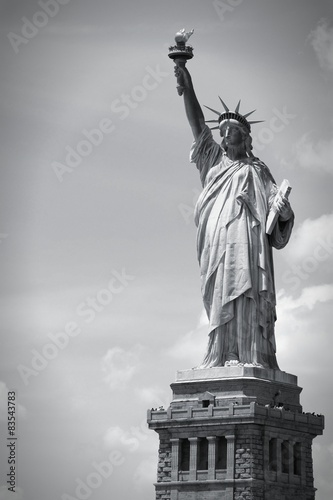 Statue of Liberty. Black and white. Fototapeta
