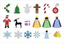 Iconos Navideños Y De Invierno