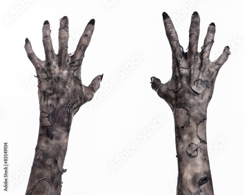 black hand of death, walking dead, zombie theme,  zombie hands Canvas Print