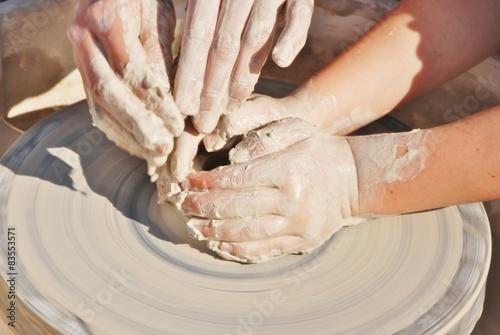 Fotografie, Obraz  apprendimento arte del vasaio