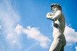 canvas print picture - Statue of David Florence Italy Outdoors in Blue Sky