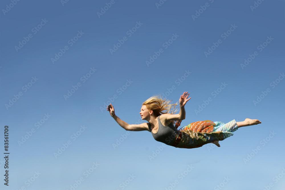 Fototapety, obrazy: Woman Falling Through the Sky