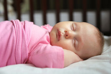 Sweet Newborn Baby Girl Asleep...