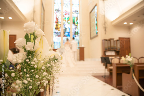 結婚式イメージ Billede på lærred