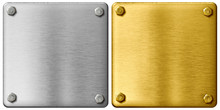 Silver And Gold Metal Plates W...