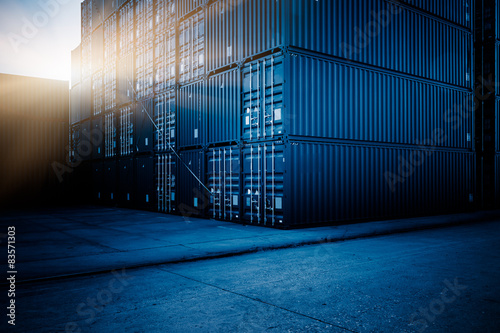 Cargo containers Canvas Print