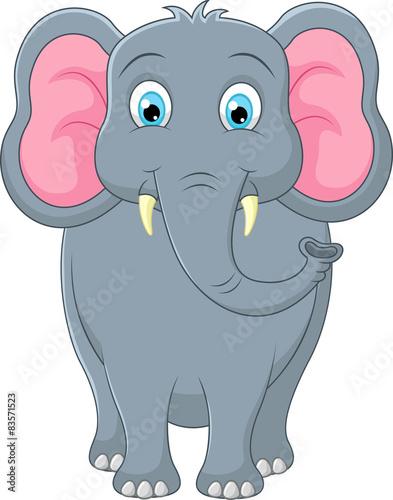 fototapeta na drzwi i meble Słodkie słoń cartoon