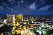 Top View Of Chiangmai City Scape At Night, Thailand