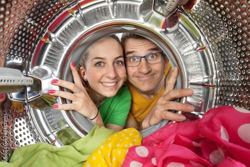 Fotografie, Obraz  Portrait duo machine à laver