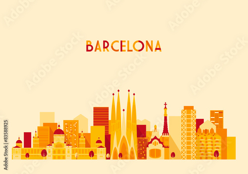Barcelona, Spain, big city skyline Poster
