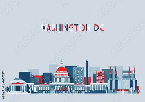 Fotografía  Washington skyline (United States)
